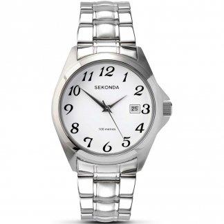 Classic Men's Stainless Steel Quartz Watch 3952