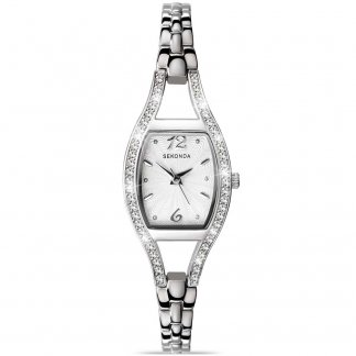 Elegant Silver Tone Ladies Watch 4191