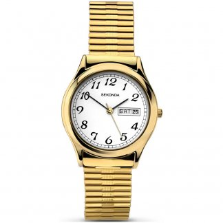 Gold Expandable Men's Day/Date Watch