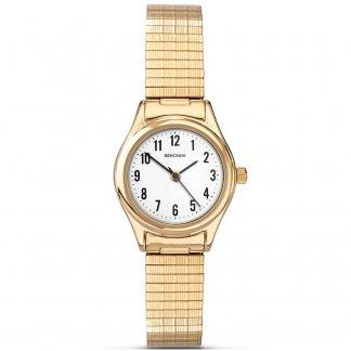 Gold Tone Expanding Ladies Bracelet Watch 4602