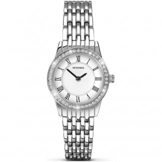 Ladies Classic Quartz Watch With Crystal Set Bezel 2151