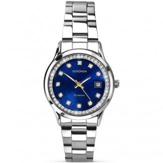 Ladies Sparkling Blue Dial Bracelet Watch 2147