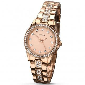 Ladies Starfall Rose Gold Plated Bracelet Watch 2034