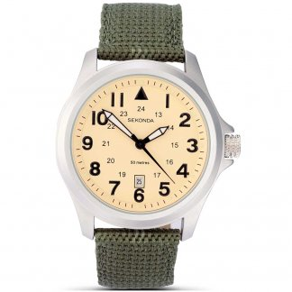 Men's Aviator Green Military Strap Watch
