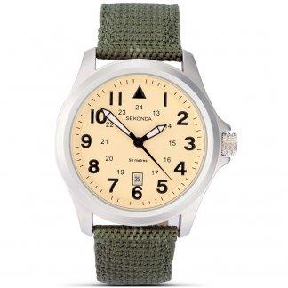 Men's Aviator Green Military Strap Watch 3341
