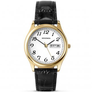 Men's Date Display Gold PVD Watch