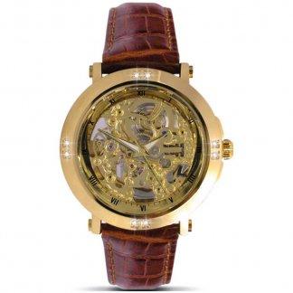 Men's Diamond Set Automatic Skeleton Watch 1101