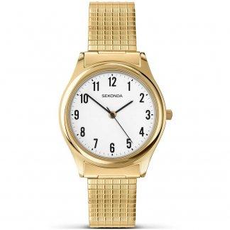 Men's Gold Expandable Bracelet Watch 3752
