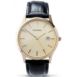 Men's Gold Plated Classic Strap Watch 3697