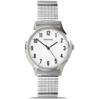Men's Silver Expandable Bracelet Watch 3751