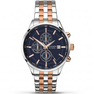 Men's Velocity Two Tone Chronograph Watch