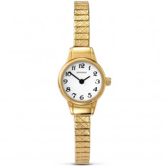 Skinny Gold Plated Ladies Expander Watch