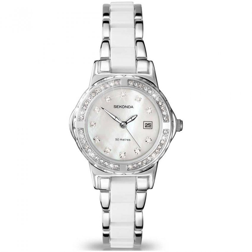Sekonda Two Tone Ladies Watch With Mother of Pearl Dial 4674