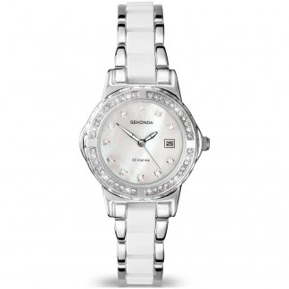 Two Tone Ladies Watch With Mother of Pearl Dial 4674