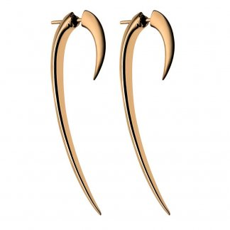 58mm Signature Tusk Rose Gold Vermeil Hook Earrings SLS276