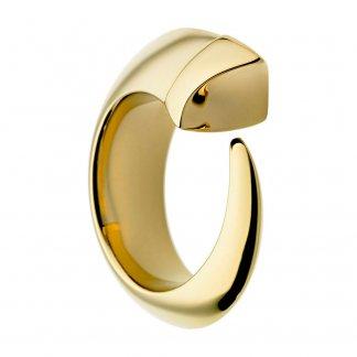 Gold Vermeil & Ivory Enamel Tusk Ring (Size M) SLS258M