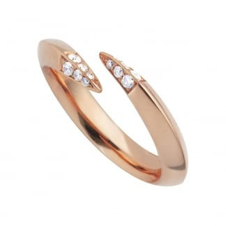 Rose Gold Vermeil Diamond Wrap Ring SLS624