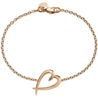 Rose Gold Signature Heart Bracelet SLS589RG