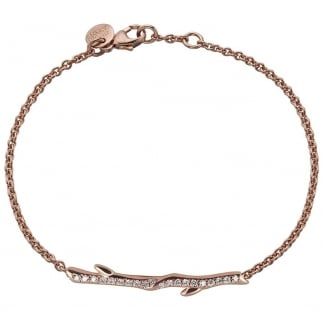 Rose Gold & Diamond Cherry Branch Bracelet