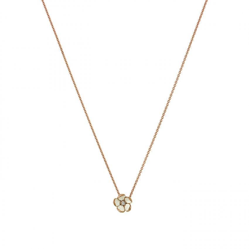 Shaun Leane Rose Gold Vermeil Cherry Blossom Pendant With Diamond SLS221RG