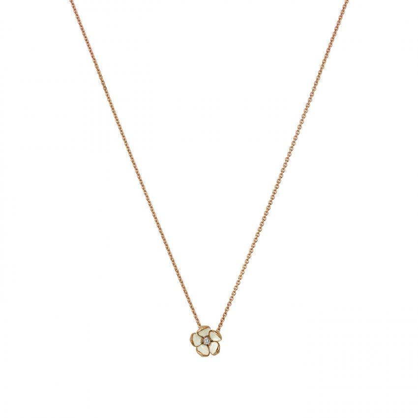 Shaun Leane Rose Gold Vermeil Cherry Blossom Pendant With Diamond SLS221RG