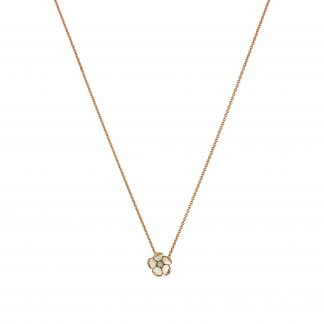 Rose Gold Vermeil Cherry Blossom Pendant With Diamond