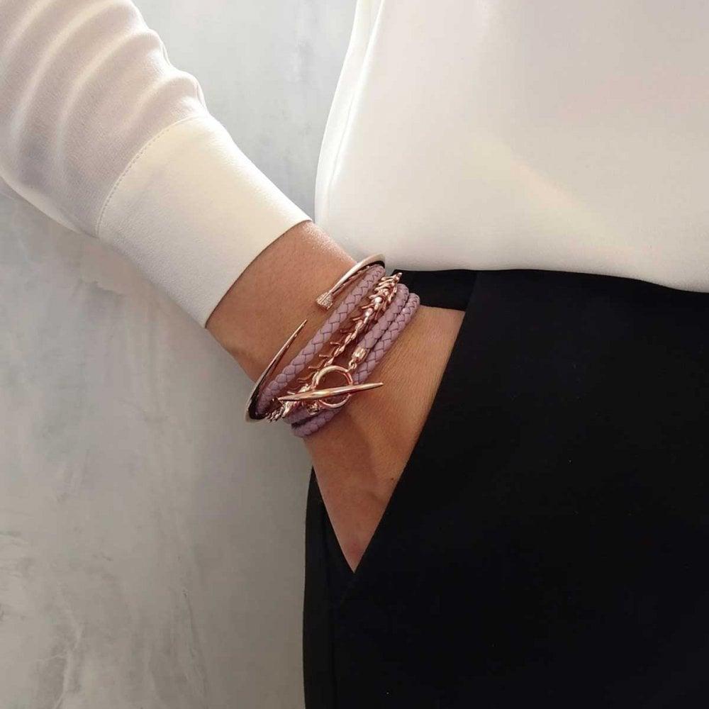 024d42021 Shaun Leane Rose Gold Vermeil Serpents Trace Slim Bracelet Size ...