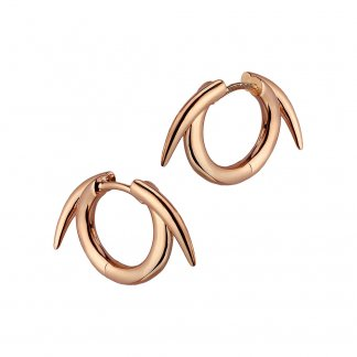 Rose Gold Vermeil Thorned Hoop Earrings SLS543