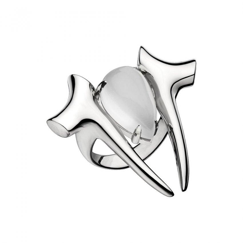 Shaun Leane Silver Branch Moonstone Ring SLS506