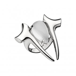 Silver Branch Moonstone Ring SLS506
