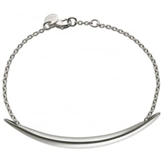 Silver Chain Bracelet with Quill SLS566