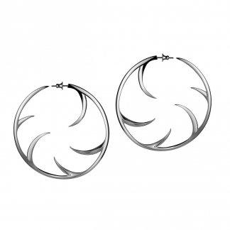 Silver Multi Cat Claw Hoop Earrings 73mm SLS106