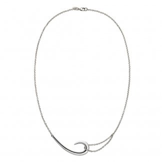 Sterling Silver Signature Tusk Hook Necklace SLS482
