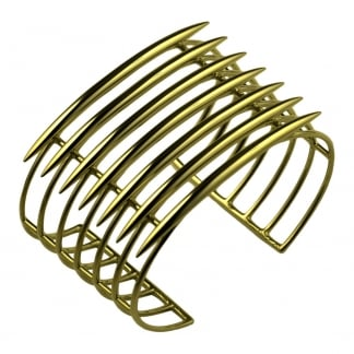Yellow Gold Vermeil Quill Cuff SLS568GP