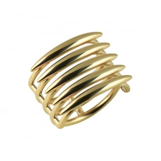Yellow Gold Vermeil Quill Ring Size M SLS559M