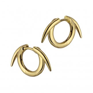 Gold Vermeil Thorned Hoop Earrings SLS542