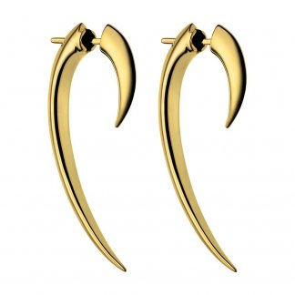 Signature 38mm Gold Vermeil Talon Earrings SLS267