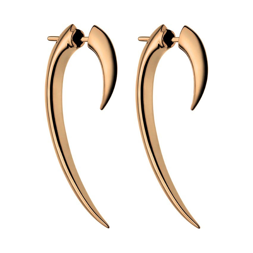 Shaun Leane Signature 38mm Rose Gold Vermeil Talon Earrings SLS275