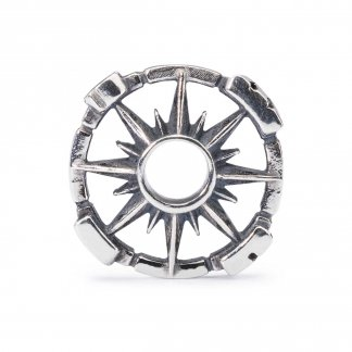 Silver Compass Bead 1004102025