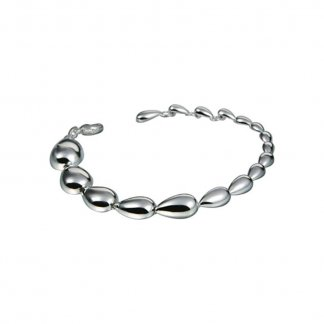 Silver Ghost Graduated Pebble Bracelet