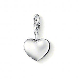 Silver Heart Charm 0801-001-12