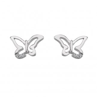 Silver Flutter Micro Earrings DE336