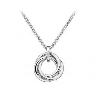 Silver Trio Circle Pendant DP543