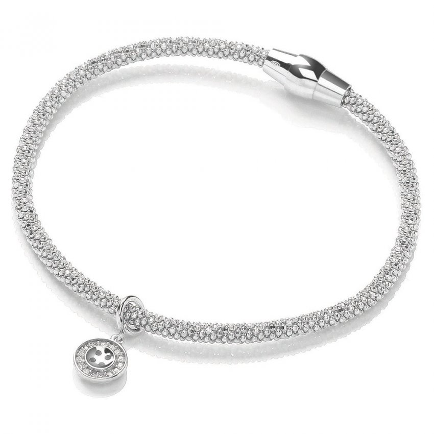 Bouton Silver Magnetic Joie Bracelet with Button Charm BBT013
