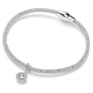 Silver Magnetic Joie Bracelet with Button Charm