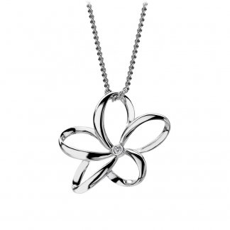 Silver Paradise Flower Mini Pendant DP230