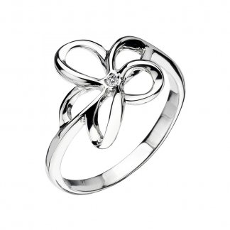 Silver Paradise Open Petal Ring
