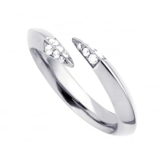 Silver Signature Diamond Wrap Ring