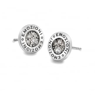 Silver Stone Set Innocence Earrings