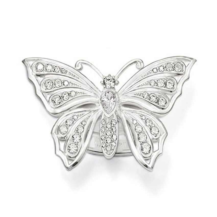 Thomas Sabo Silver Stone Set Large Butterfly Ring TR1894-051-14